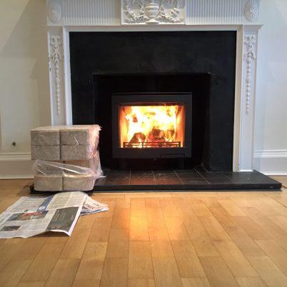 Contura i5L Wood Burning Stove with surround Installation