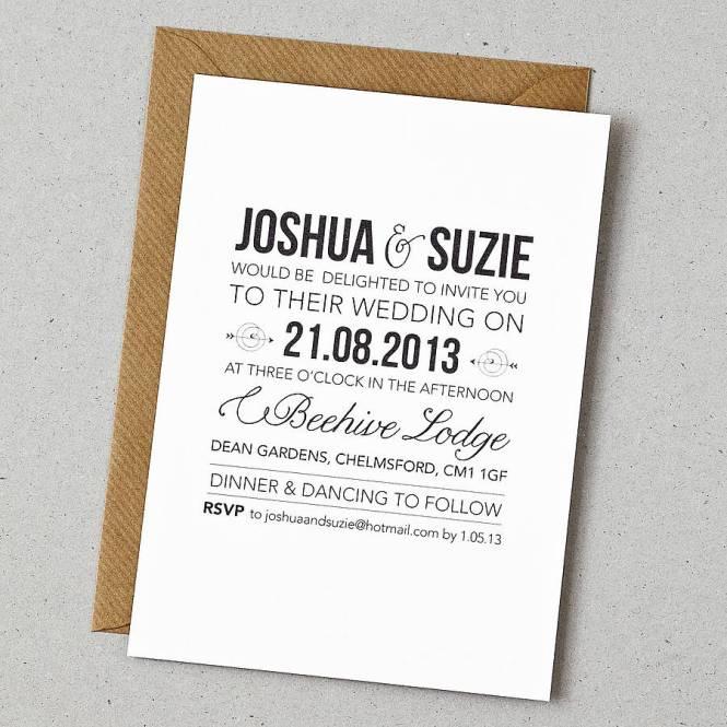 Contemporary Wedding Invitation Examples