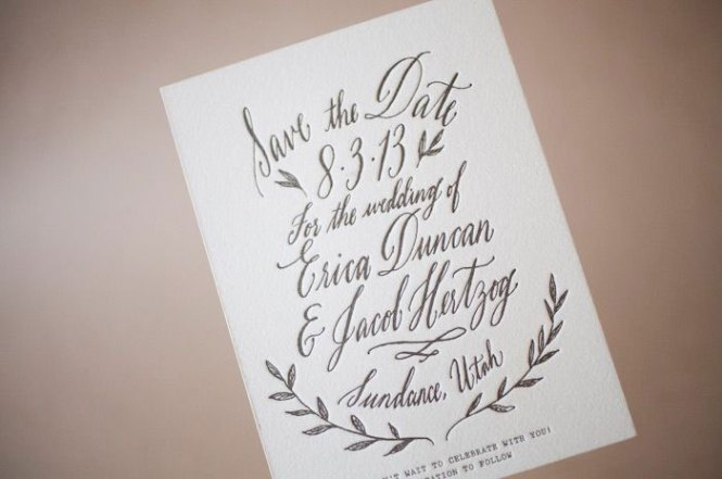 Modern Engraved Monogram Wedding Invitation With Contemporary Initials And Traditional Script In Navy