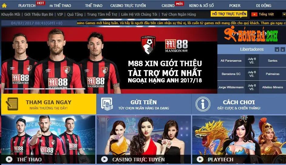 trang ca do bong da uy tin nhat 2107 m88 Trang cá cược bóng đá uy tín nhất Việt Nam mà bạn phải biết