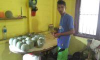 Mahasiswa Unimal Panen Melon Varitas Action Dalam Kondisi Banjir
