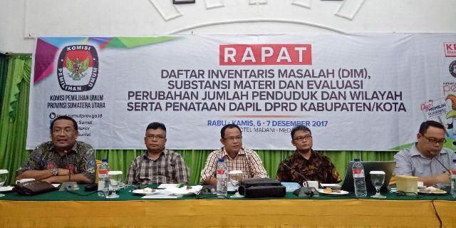 KPU Sumut Rapat Penataan Dapil Bersama KPU Kabupaten/Kota