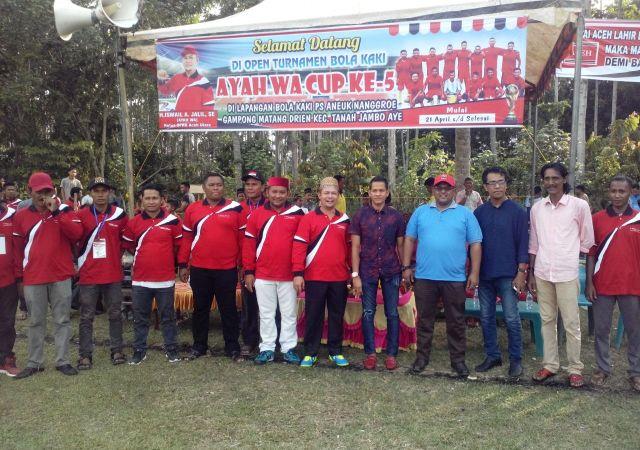 Turnamen Sepak Bola Ayah Wa Cup ke-5 Resmi Dibuka Wabup Aceh Utara