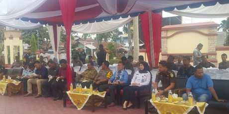 Dandim 0104/ATIM Ikut Acara Pengungkapan Kasus dan Pemusnahan Narkoba di Kota Langsa