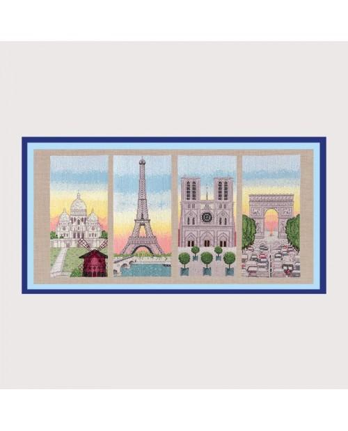 Le Bonheur Des Dames Paris : bonheur, dames, paris, Embroidery, Monuments, Paris.