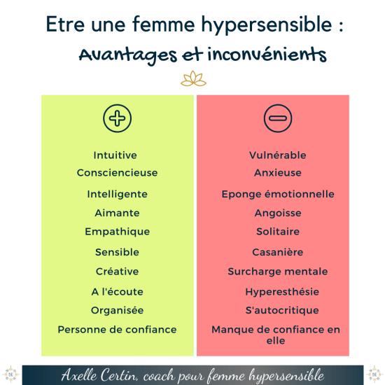 avantages et inconvenients des femmes hypersensibles