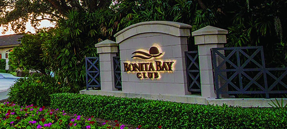 Bonita Bay Private Country Club sign