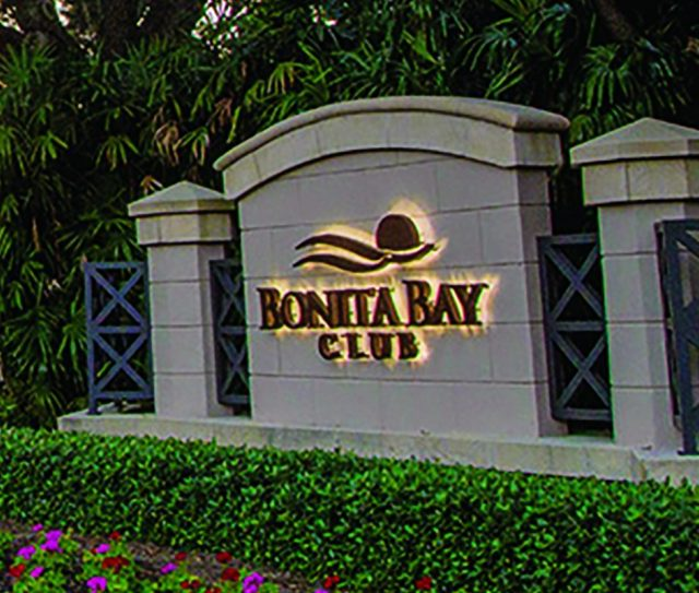 Bonita Bay Private Country Club sign