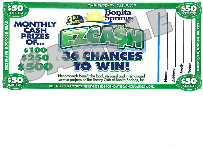 EZCA$H ticket sample