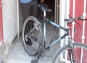 Bicicleta recuperada en operativo