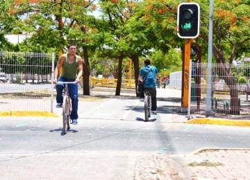 Aspecto de una ciclovía en León. Foto: IMPLAN