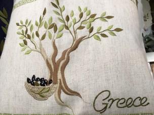 Souvenir with olive motifs