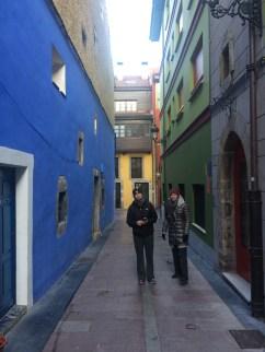 Colorful Ribadesella streets