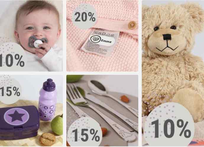 étiquettes personnalisées enfant