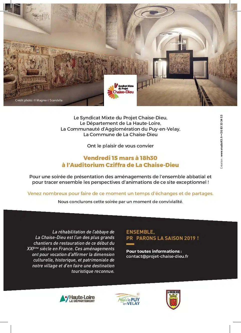 Design Creation Le Puy En Velay le futur projet chaise-dieu - bonjour marcel