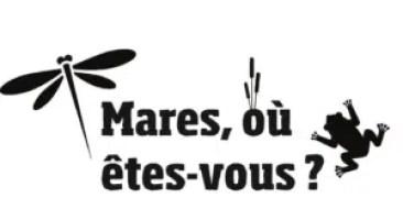 """Logo de """"Mares, où êtes-vous ?"""" pour recenser les mares près de chez vous"""