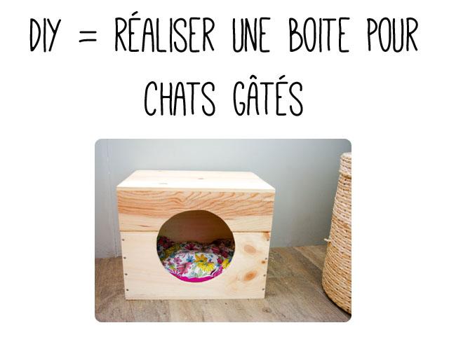 diy faire une boite pour votre chat. Black Bedroom Furniture Sets. Home Design Ideas