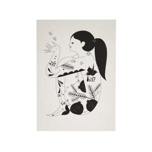 winter-forest-goddess-art-print-by-karolin-schnoor