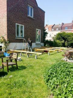 construction terrasse bois sur poutres porteuses et plots béton (9)