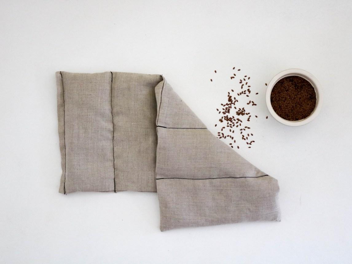 Bouillotte en graines de lin coussin chauffant relaxant bouillotte sèche