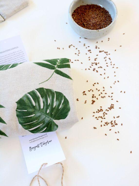 Bouillottes sèches en graines de lin