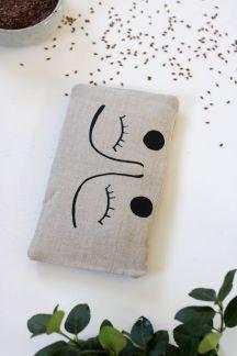bouillotte sèche en graines de lin yeux masque apaisant compresse chaude (6)