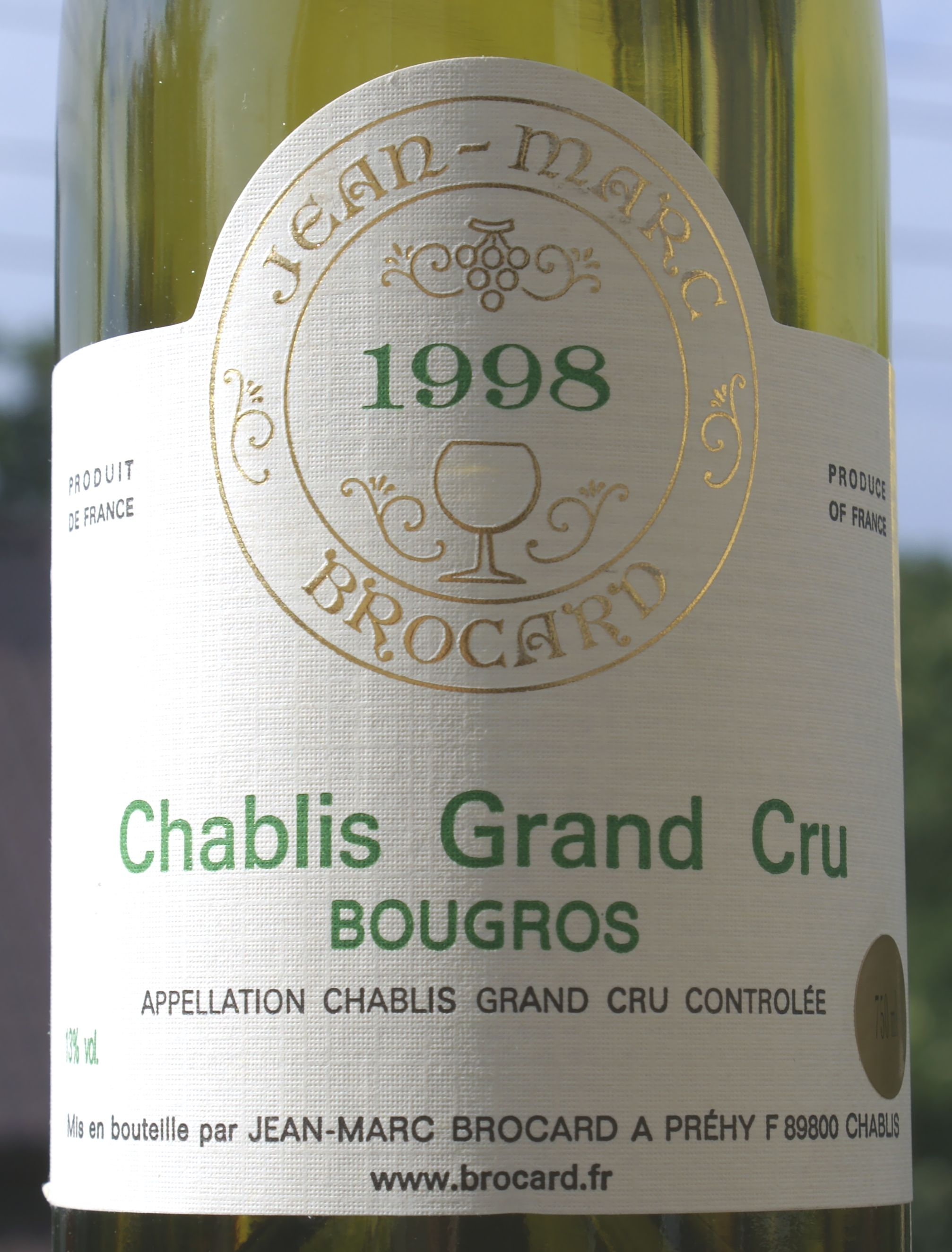 Jean-Marc Brocard Chablis Bougros 1998
