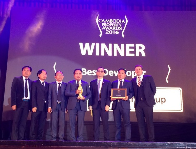Borey Penghouth Group wins Best Developer at the Cambodia Property Awards 2016