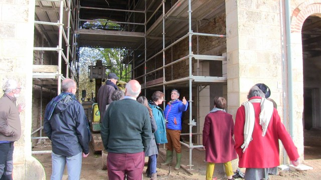 November 2019 future of Bonnevaux meeting tour of the renovation site