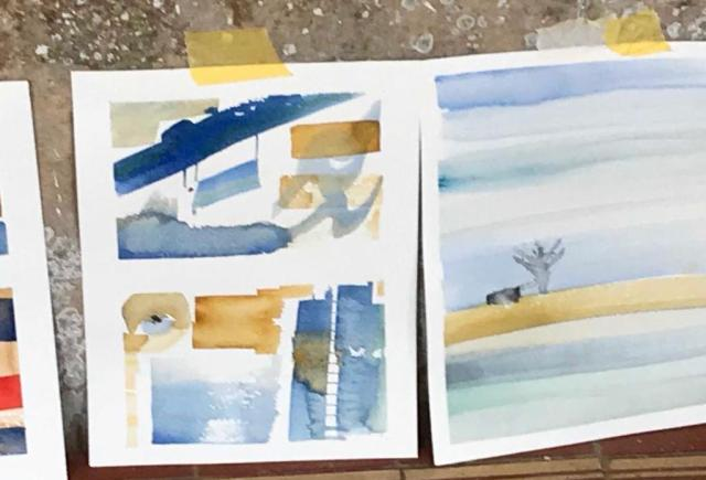 Watercolour paintings by Silvia