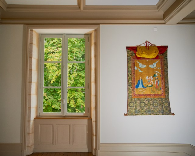 View of Christian tapestry