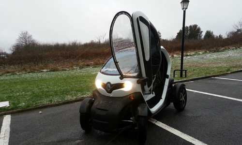 Renualt Twizy. A 140 cm wide two-seater e-car.
