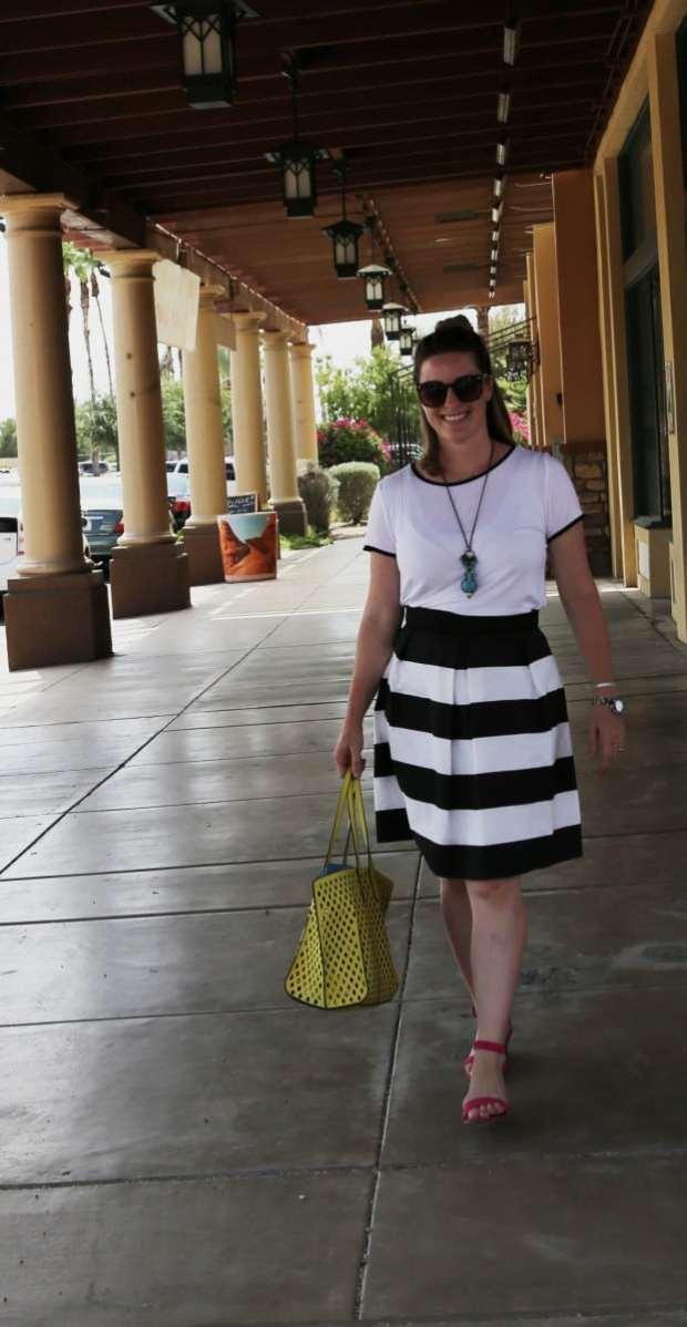 Sew a bell skirt pattern