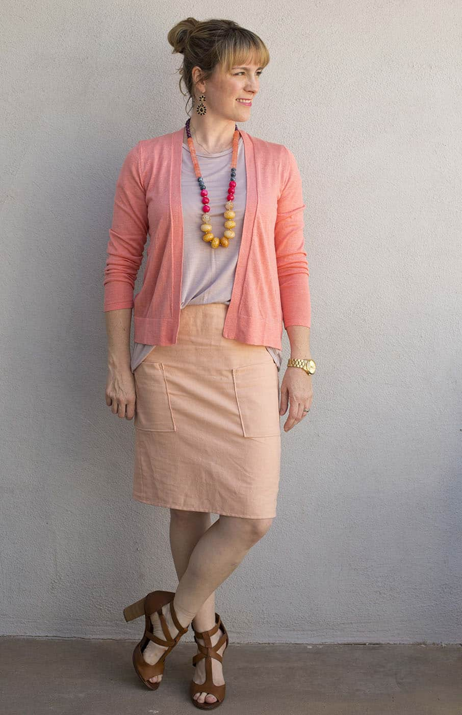 A capsule wardrobe takes what clothes you have and makes them enough! Use this warm weather capsule wardrobe as inspiration for curating your own outfit collection for spring and summer