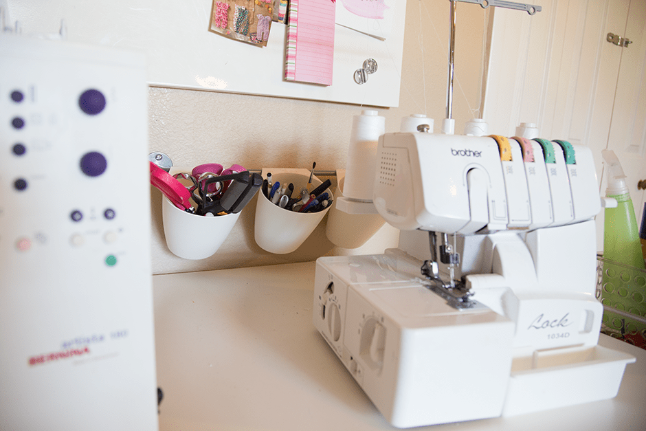 serger and sewing tools