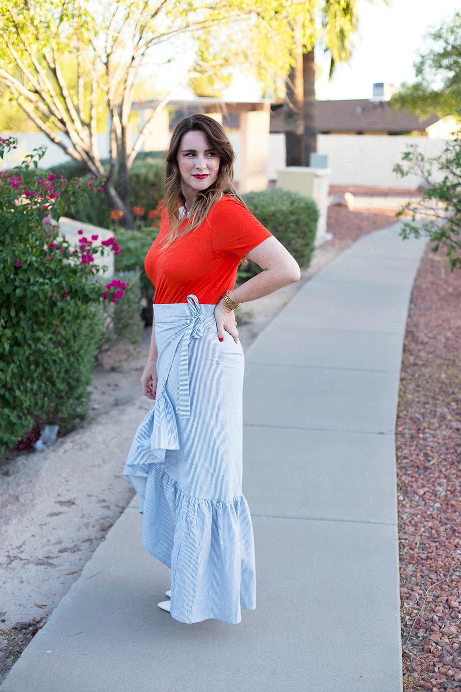 how to make a ruffle skirt dress