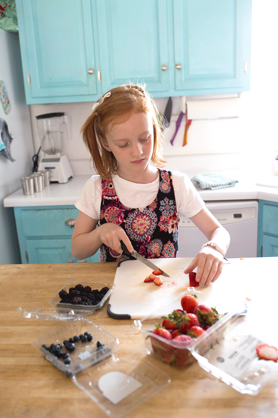 Teach your children to help out in the kitchen safely and enjoyably! By giving them age appropriate tasks and allowing them to help when they're willing, kids grow up with valuable skills and an excitement to participate in mealtime prep. Even the smallest children can help in the kitchen!