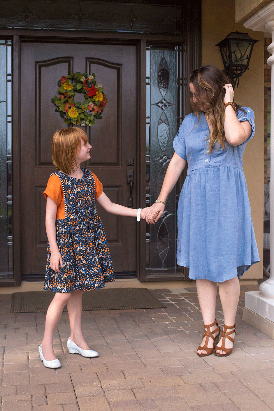 Whipping up a few warm weather dresses is the perfect welcome to a long overdue spring! These two dress patterns (one for girls and one for women) are surefire beginner favorites that will stand the test of time, and both are a breeze to sew. They both use woven fabrics which are easy to work with and widely available in super cute prints. Check out some inspiration below and get yourself started sewing spring dresses!