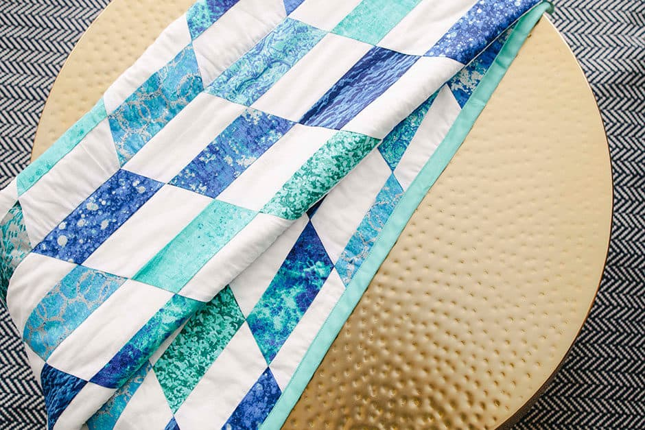 sewing chevron quilt