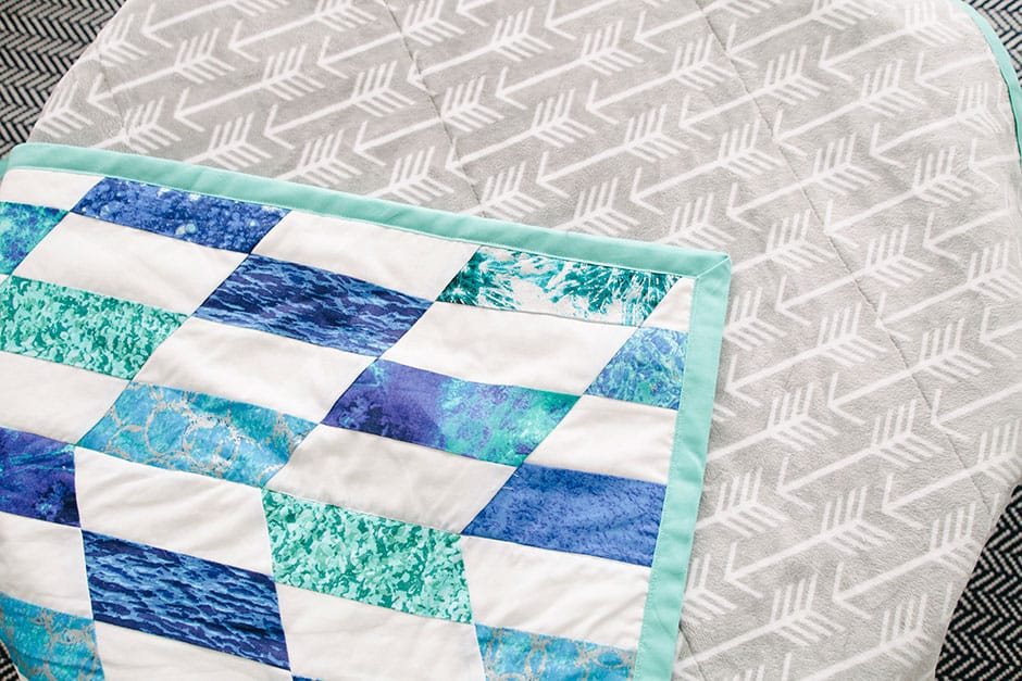 sewing baby quilt
