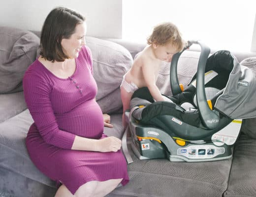 pregnant mom car seat baby