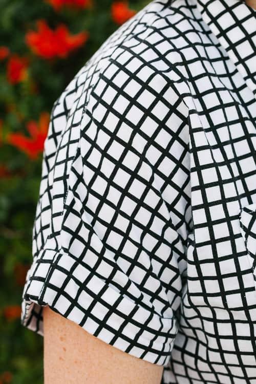 DIY short-sleeve button down shirt