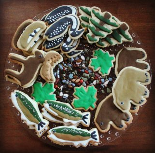 cottage association 75th anniversary sugar cookies