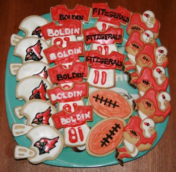 arizona cardinals superbowl sugar cookie