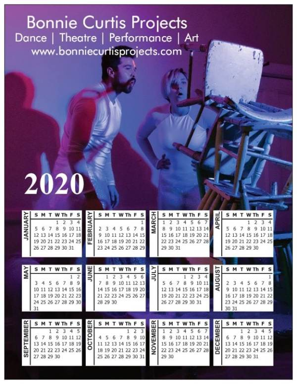 2020 Magnetic Calendar Romain and Berni Chairs