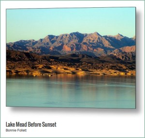 Lake Mead Before Sunset Metal Print, photograph by Bonnie Follett