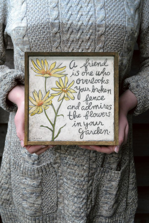 Yellow Flower with Friendship Quotes