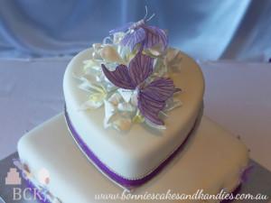 Purple Butterflies On A Traditional Fruit Cake Mackay