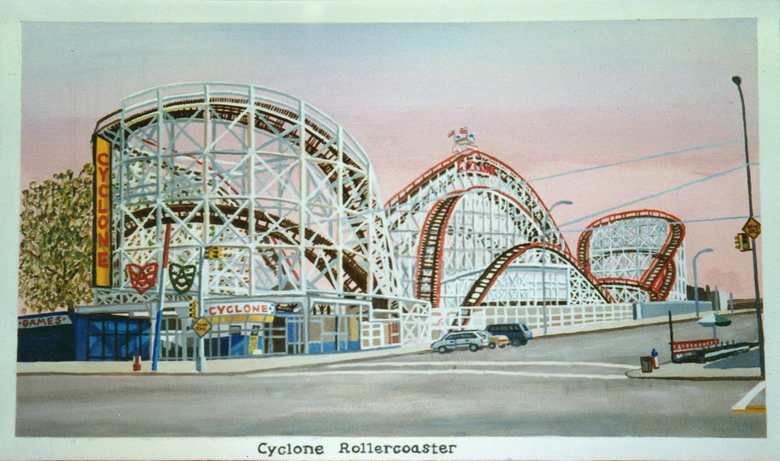 Coney Island Postcards Mural For Mailbox Room Of Ryder Retail Postal Station In Brooklyn NY