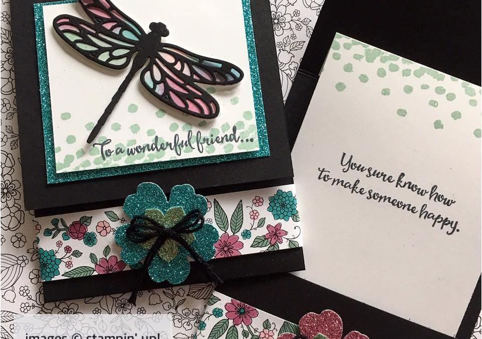 Fun Folded Dragonfly Dreams Cards